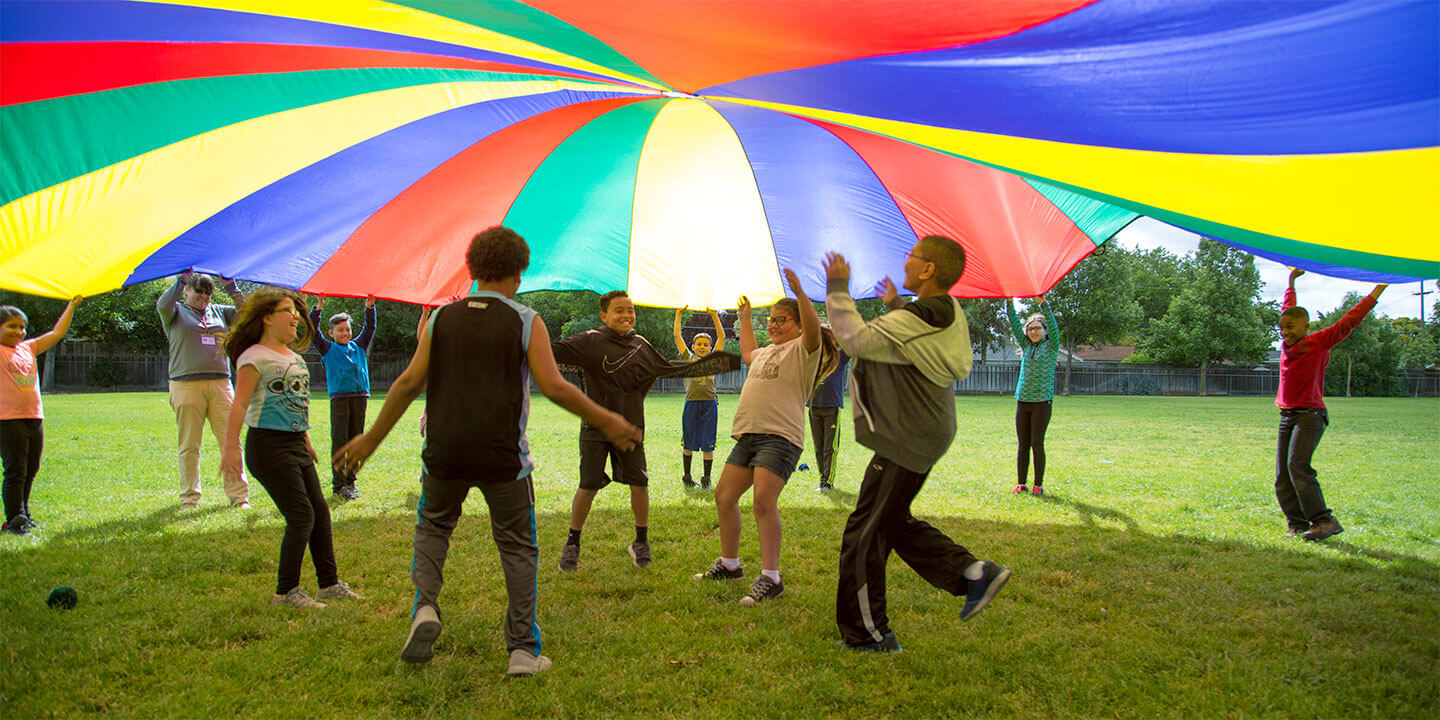 outdoor physical education class